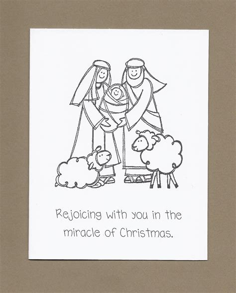 printable christmas cards to color religious holy family set of 4 color your own christmas cards ask 4