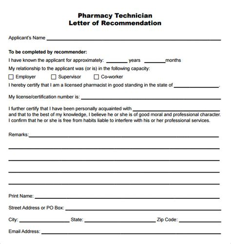 Albany College Of Pharmacy Letter Of Recommendation recommendation letter sle pharmacist cover letter