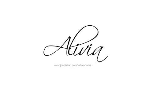 alivia name tattoo designs