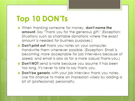 Thank You Letter When You Don T Get The Thank You Notes Reasons To Write A Thank You Note To Show
