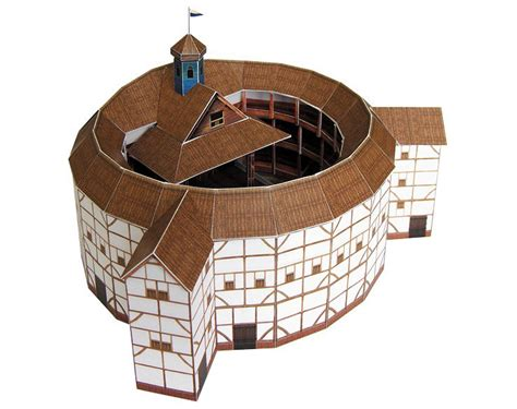 Paper Kit For - globe theatre paper model craft kit on storenvy