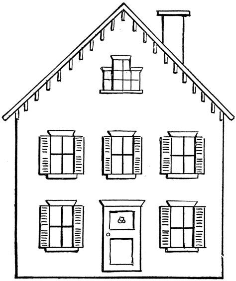 house drawing drawing a house 2 clipart etc