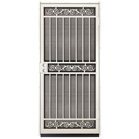 Unique Home Designs 36 in. x 80 in. Sylvan Almond Surface Mount Outswing Steel Security Door
