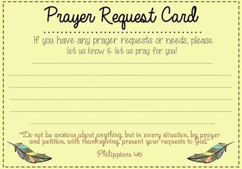 church prayer request card template baptist church news