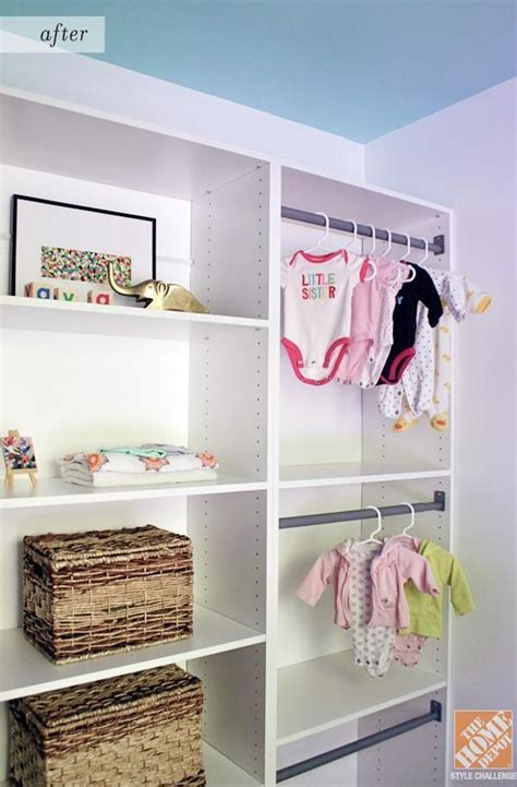 martha stewart schrank organisation closet organization ideas for a nursery the home depot