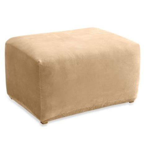 directions for an ottoman slipcover sure fit 174 stretch pique furniture slipcovers bed bath