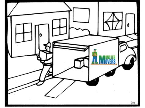 moving van coloring page moving with kids mover help tips advice and how to move