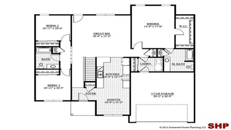 3 Bedroom House Plans With Garage by Craftsman Style House Plans No Garage