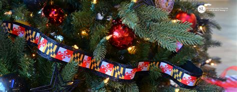 maryland flag christmas tree in honor of pathfinders for