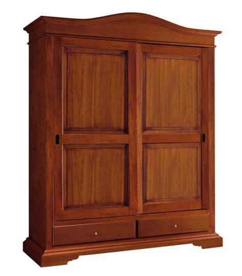 armadio ante scorrevoli legno armadio legno 2 ante scorrevoli 2 cassetti