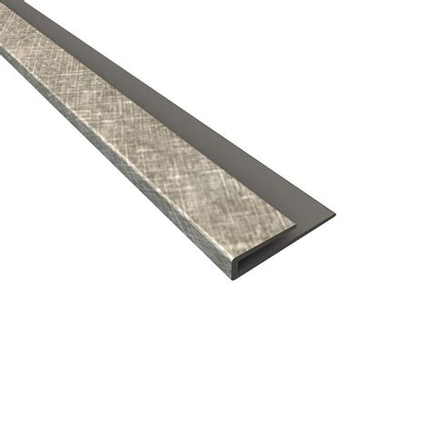 fasade 4 ft large profile j trim in crosshatch silver 176