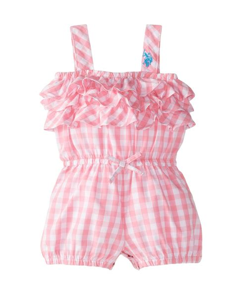 what are baby rompers new u s polo assn baby girls woven tiered ruffle romper