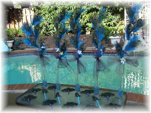 peacock wedding centerpieces ideas items similar to 10 dual use peacock and ostrich feather