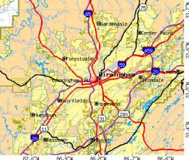 Birmingham Zip Code Map by Map Of Downtown Birmingham Alabama Pictures To Pin On