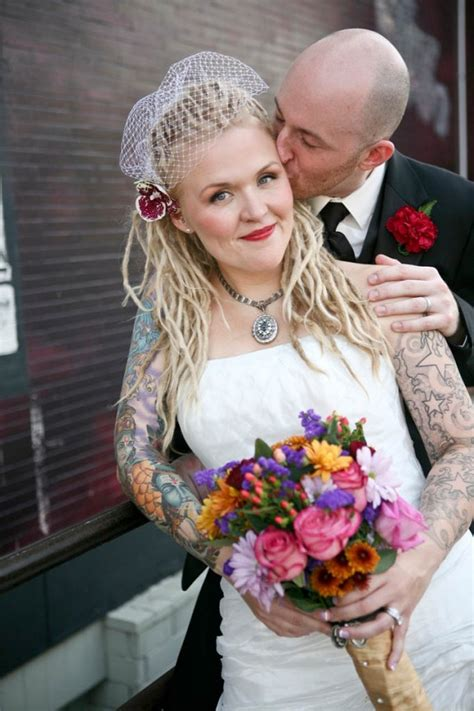 60 utterly beautiful tattooed brides 183 rock n roll bride
