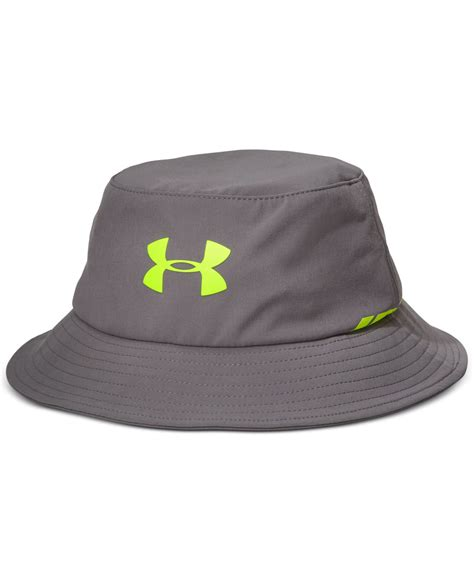 armour elements water resistant golf bucket hat