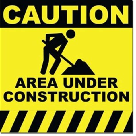 free printable under construction signs construction notice midcoast solid waste corp