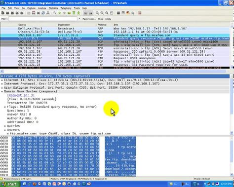 Wireshark Tutorial Ftp | wireshark packet capture on file transfer protocol ftp