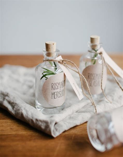 DIY rosemary seasalt favors & free lables   Best Day Ever