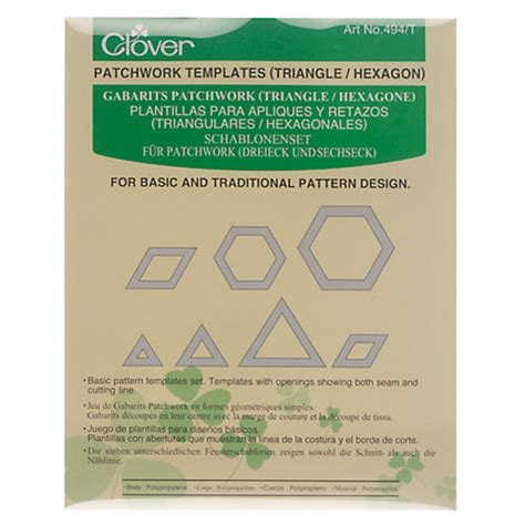 Clover Patchwork Templates - buy clover patchwork templates triangle hexagon
