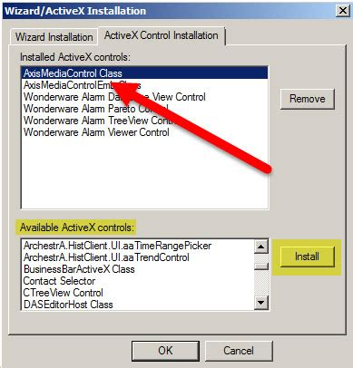 axis activex tn it221 using axis media with intouch insource