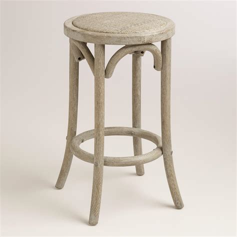 Rattan Backless Counter Stools wood and rattan syena backless counter stool world market