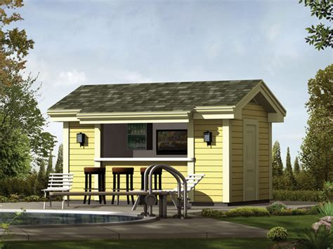 Pool House Plans With Bar by Coolwater Pool Cabana With Bar Plan 009d 7525 House