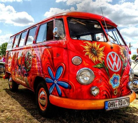 volkswagen van hippie details about vw cervan cross stitch pattern buses