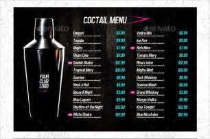 Drink Menu Template Free by Doc 590392 Free Drink Menu Template 20 Drink Menu