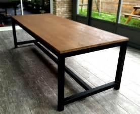 table de salle 224 manger en acier et bois meubles et