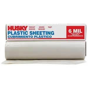 home depot 6 mil plastic husky 10 ft x 100 ft clear 6 mil polyethylene sheeting