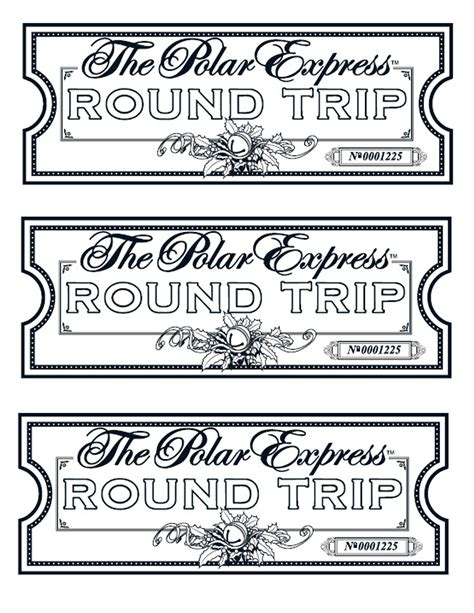 my take on the polar express tickets we printed them on