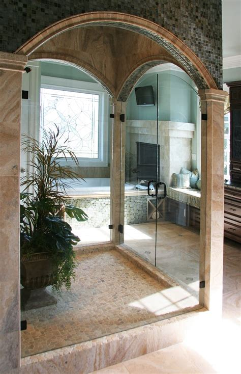 Custom Frameless Arched Top Double Doors Yelp Seattle Shower Door