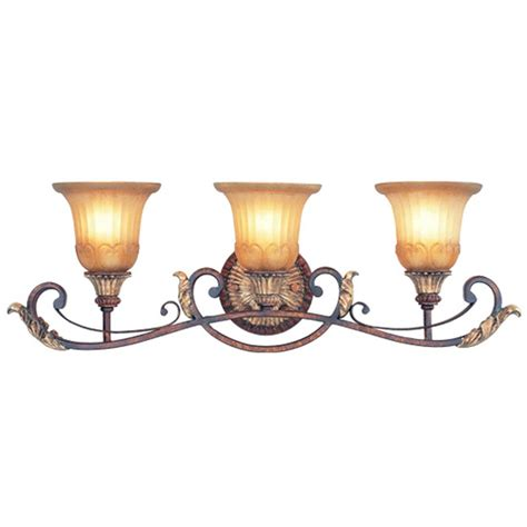rustic bathroom lighting fixtures 3 light livex villa verona rustic art bathroom vanity