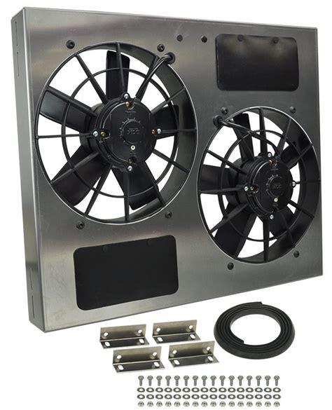 high output computer fan derale 16835 dual high output rad fan