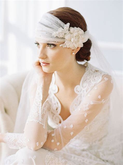 Vintage Wedding Hairstyles Veil by 25 Prettiest Lace Bridal Hairpieces Headpieces For Your