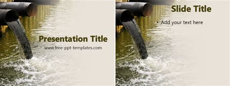 ppt templates for water pollution free powerpoint templates water pollution ppt template