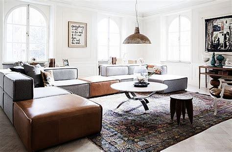 Living Room Club Stockholm Spacious With Vintage Accents Interior Design Apartment In