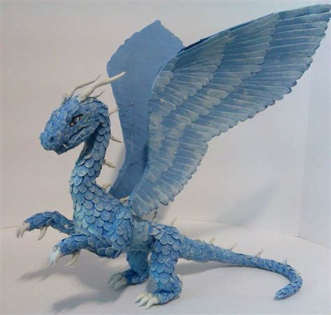 How To Make Paper Dragons - paper safira