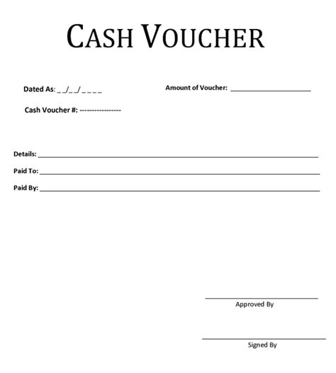 cash voucher template desktop pinterest format html