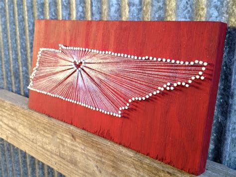 Tennessee String - tennessee reclaimed wood nail and string