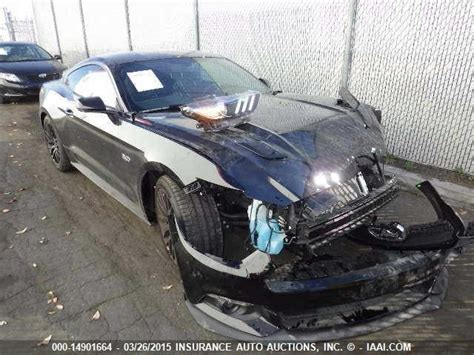 crashed mustang gt for sale salvage find 2015 mustang gt premium performance pack
