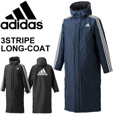 long bench coat apworld rakuten global market adidas adidas mens bench coat 3 stripes long coat