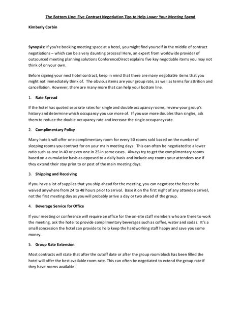 hotel contract template 5 sure hotel contract negotiation tips i bet u missed