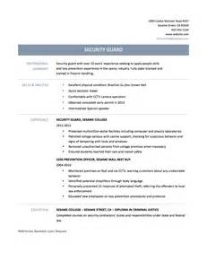 Security Officer Resume Template Security Officer Resume Tips Templates And Samples