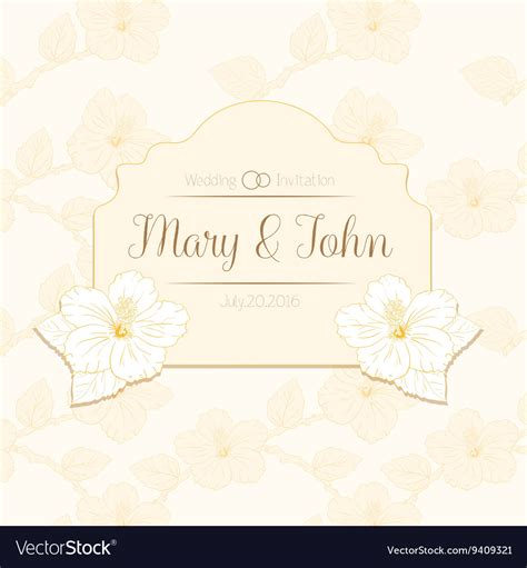 hibiscus card template congratulations card design template with hibiscus vector