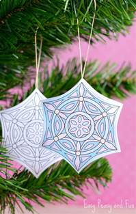 printable christmas ornaments color easy peasy fun