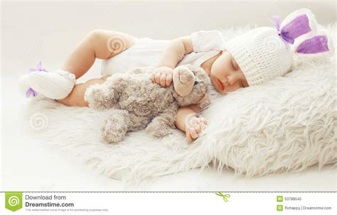 comfort baby baby comfort sweet infant at home sleeping with teddy