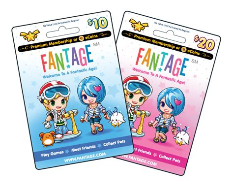 Fantage Gift Card - free fantage game cards home