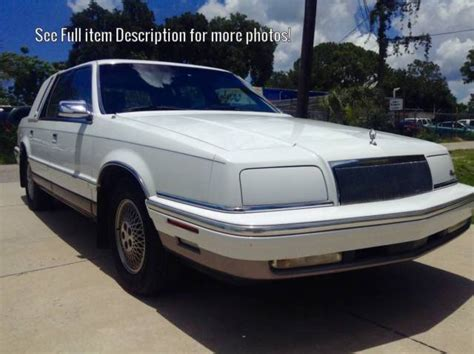 purchase used 1993 chrysler new yorker fifth ave 75k original mi 50 photos loaded a 1993 chrysler new yorker fifth avenue sedan 48k original miles classic chrysler new yorker